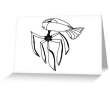 Metal Spider Science Fiction Creature Greeting Card