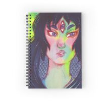 Third eye Rainbow Girl Spiral Notebook