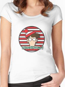 Found Waldo! Women's Fitted Scoop T-Shirt