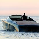 Aston Martin Power Boat on the Water in Monaco by M-Pics