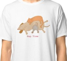Dog and Cats Nap Time Classic T-Shirt