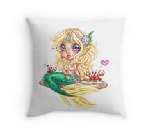 Mermaid by Amberly Berendson Throw Pillow