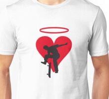 Skater Herz mit Heiligenschein Unisex T-Shirt