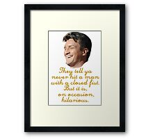 Entertained Mal Framed Print