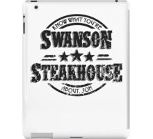 Swanson Steakhouse (inverted) iPad Case/Skin