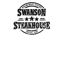 Swanson Steakhouse (inverted) Photographic Print