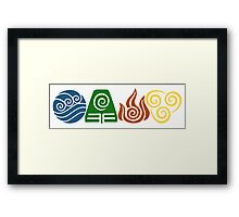 Water, Earth, Fire, Air Framed Print