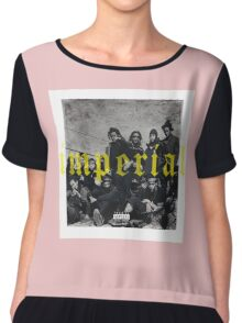 Denzel Curry Imperial Album Cover Chiffon Top