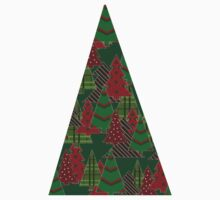 Holiday Trees Design One Piece - Long Sleeve