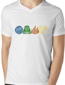 Water, Earth, Fire, Air Mens V-Neck T-Shirt