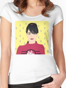 Kathleen Hanna Women's Fitted Scoop T-Shirt