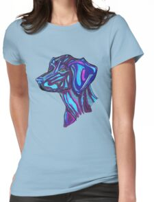 Cosmic Dog Womens Fitted T-Shirt