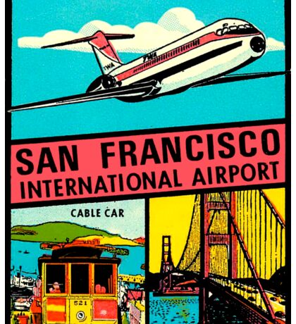 San Francisco International Airport Vintage Travel Decal Sticker