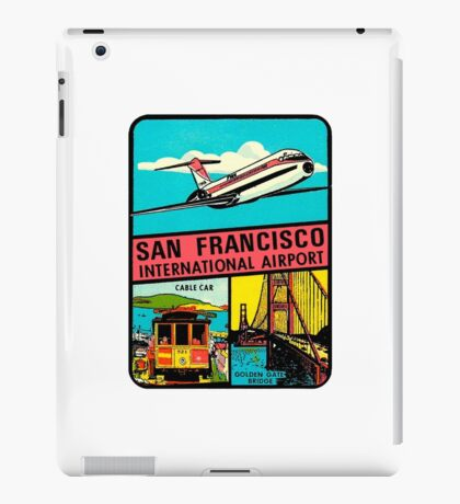 San Francisco International Airport Vintage Travel Decal iPad Case/Skin
