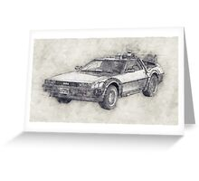 DeLorean DMC-12 Back To The Future Episode 1 Greeting Card