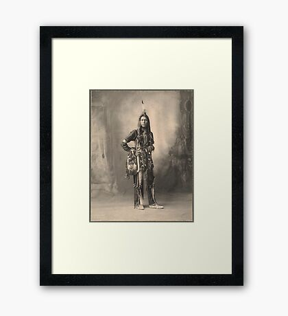 Dust Maker - Indian Portrait Framed Print