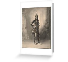 Dust Maker - Indian Portrait Greeting Card