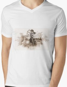 iPhone Case old print death mower reaper Mens V-Neck T-Shirt