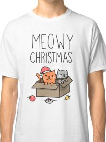 Meowy Christmas Cat Holiday Pun Classic T-Shirt