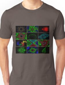 Twelve Fractal Images with Borders (Limited Palette)  Unisex T-Shirt