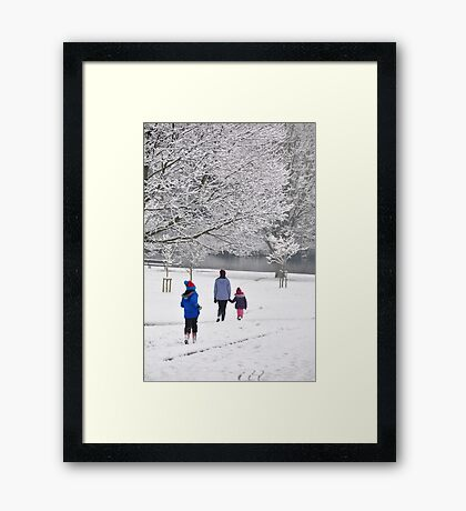 catching up Framed Print