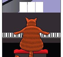 Cat at the Piano by James McLean