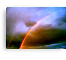 Dos Rainbows Canvas Print