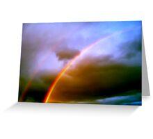 Dos Rainbows Greeting Card