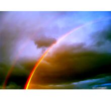 Dos Rainbows Photographic Print