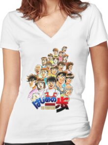 IPPO TEAM  Women's Fitted V-Neck T-Shirt