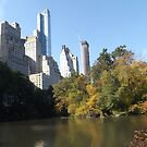 Autumn Colors, Central Park, Skyscrapers, New York City by lenspiro