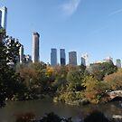 Autumn Colors, Central Park, Bridge, Skyscrapers, New York City by lenspiro