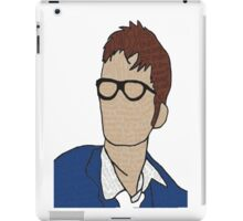 Tenth Doctor: Quotes iPad Case/Skin