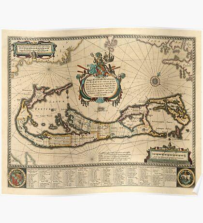 Map of Bermuda 1662 Poster