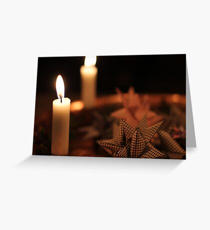 Christmas Candle Greeting Card