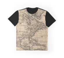Map of North America, 1650 Graphic T-Shirt