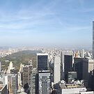Aerial View, Central Park, Skyscrapers, New York City by lenspiro