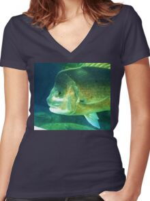 Catch this  Women's Fitted V-Neck T-Shirt