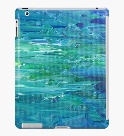 Abstract Painting in Blue and Green iPad Case/Skin