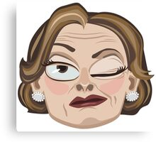 Lucille Bluth Winking from Arrested Development Canvas Print