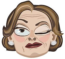 Lucille Bluth Winking from Arrested Development Photographic Print