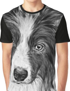 Border Collie Stare Graphic T-Shirt
