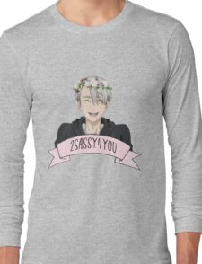 Yuri!!! on Ice - Viktor Nikiforov Flower Crown Long Sleeve T-Shirt