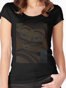bee movie script Women's Fitted Scoop T-Shirt