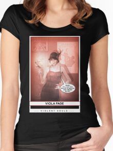 Violent Souls - Viola Page Women's Fitted Scoop T-Shirt