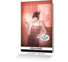 Violent Souls - Viola Page Greeting Card