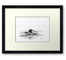 black pearl in the water Framed Print