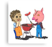 People lover's Barbecue Canvas Print