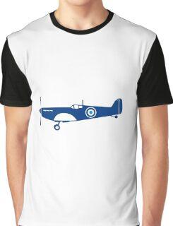 World War 2 Fighter Plane Spitfire Retro Graphic T-Shirt