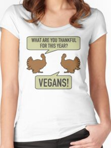 Thankful For Vegans Women's Fitted Scoop T-Shirt